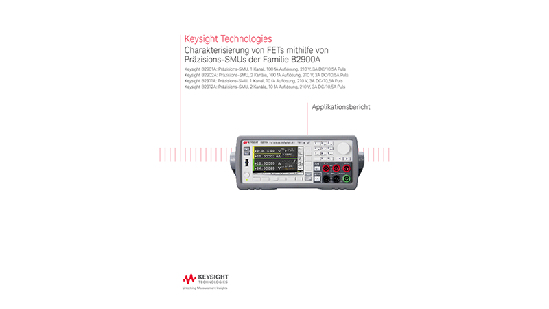 FET Characterization Using the B2900A Series of SMUs