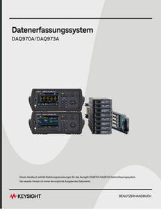 DAQ970A/DAQ973A Datenerfassungssystem Benutzerhandbuch