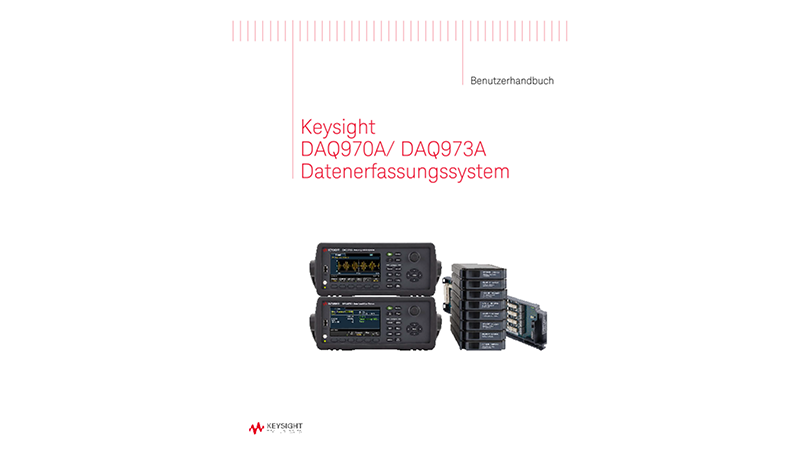 DAQ970A/ DAQ973A Datenerfassungssystem Benutzerhandbuch