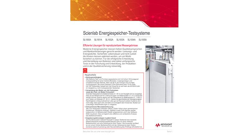 Scienlab Energiespeicher-Testsysteme