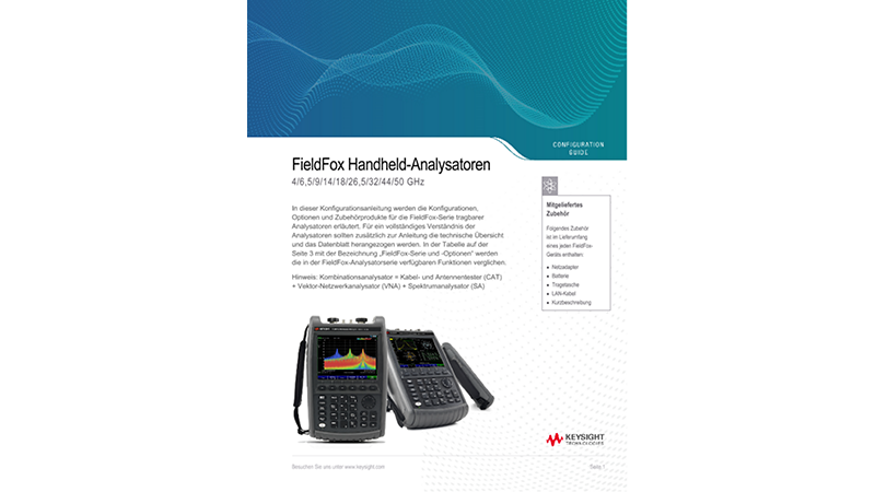 FieldFox Handheld-Analysatoren