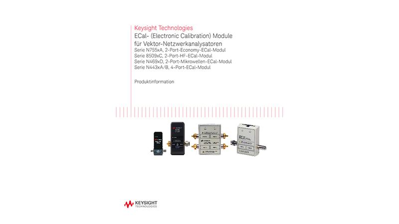 ECal- (Electronic Calibration) Module für Vektor-Netzwerkanalysatoren