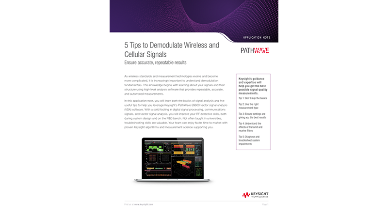 5 Tips to Demodulate Wireless and Cellular Signals