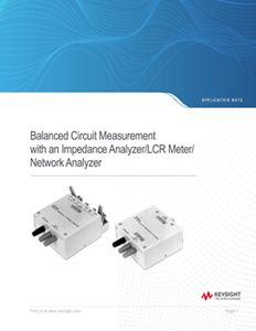Measuring a Balanced Circuit with an Unbalanced Measurement Instrument