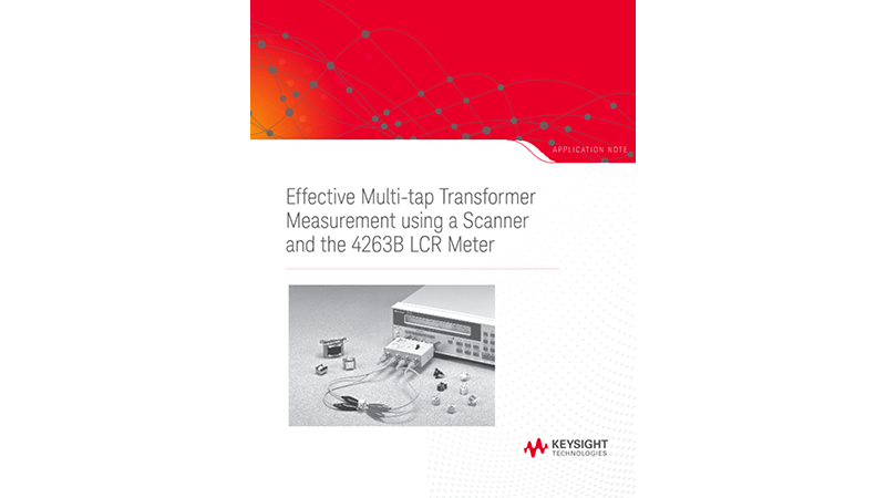 Multi-tap Transformer Measurement Using a Scanner and a LCR Meter