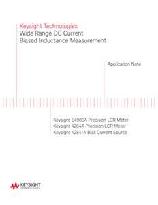 Wide Range DC Current Biased Inductance Measurement