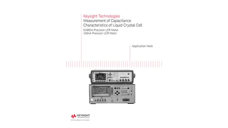 Measurement of Capacitance of Liquid Crystal Material