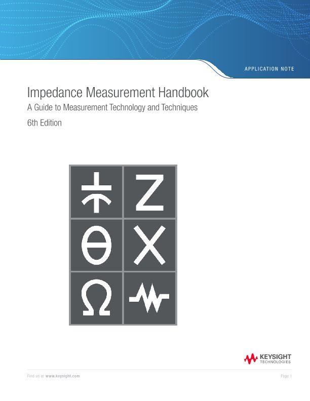 Impedance Measurement Handbook - 6th Edition