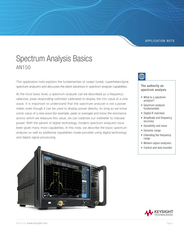 Spectrum Analysis Basics (AN150)
