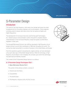 S-Parameter Design