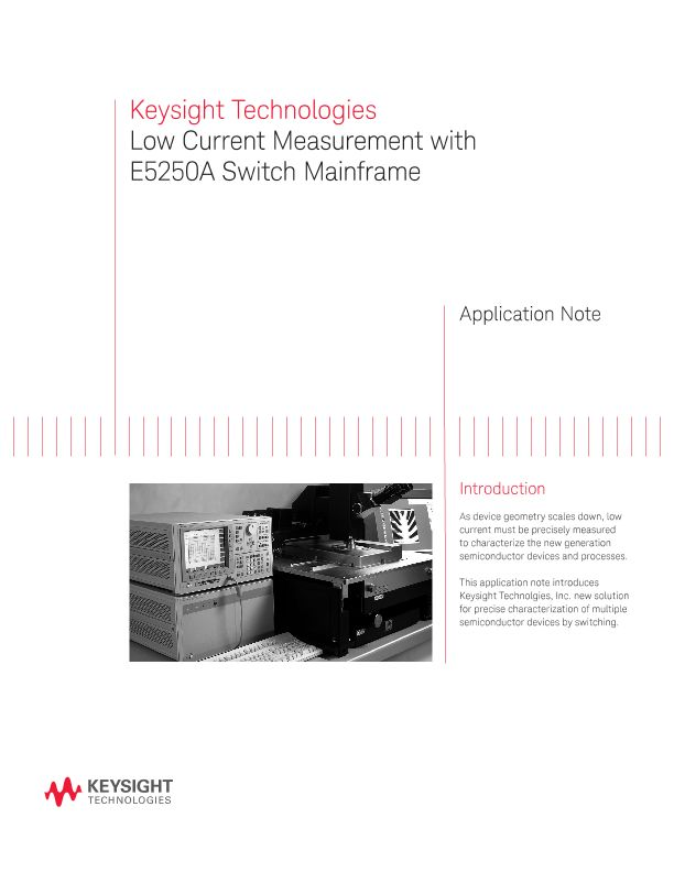 Low Current Measurement with E5250A Switch Mainframe