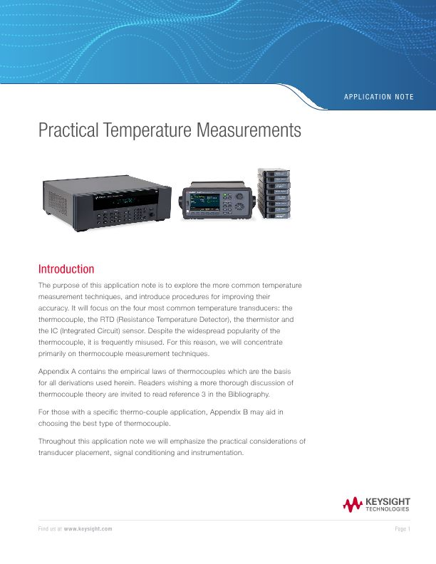 Practical Temperature Measurements