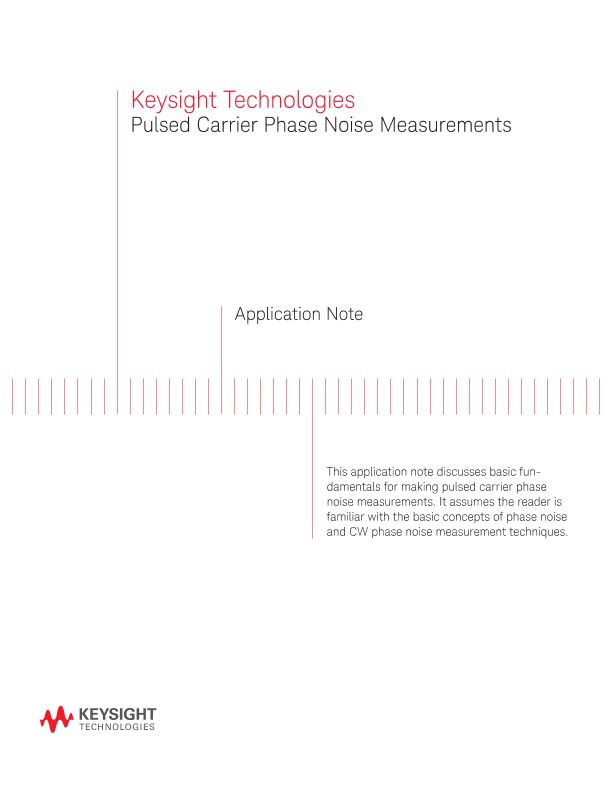 Pulsed Carrier Phase Noise Measurements using Phase Detectors