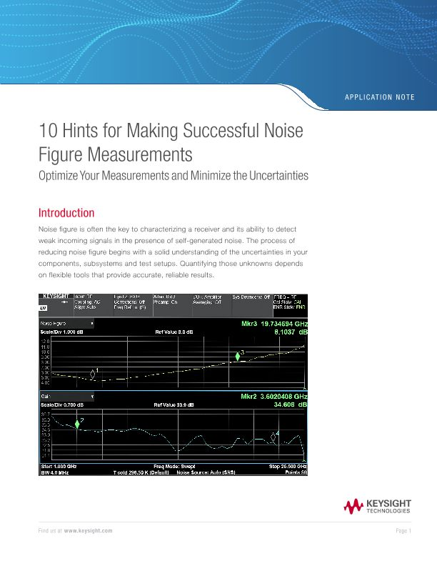 Noise Figure Measurements: 10 Hints