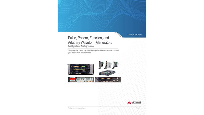 Pulse, Pattern, Function, and Arbitrary Waveform Generators