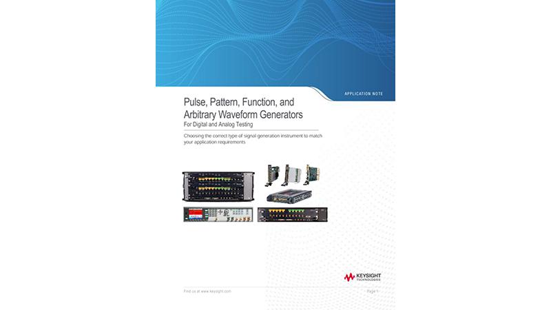 Pulse, Pattern, Function, and Arbitrary Waveform Generators