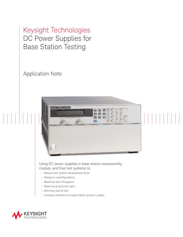 DC Power Supplies for Base Station Testing