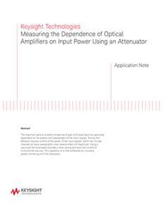 Optical Amplifier Test Solution Using an Attenuator