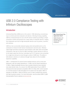 USB 2.0 Compliance Testing with Infiniium Oscilloscopes