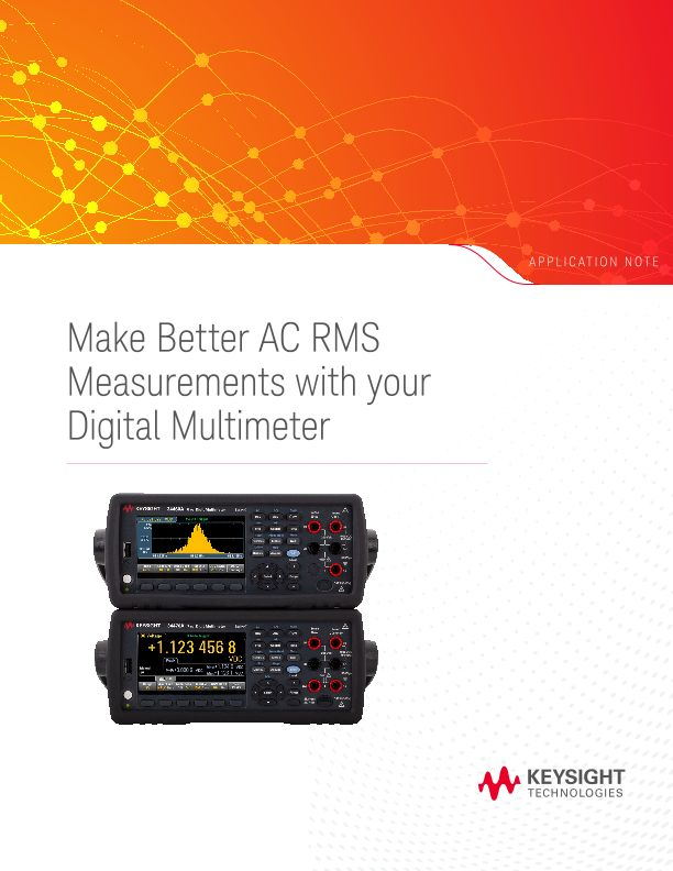 Tips for Making Better AC RMS Measurements with DMM