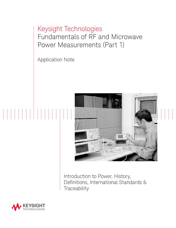 Fundamentals of RF and Microwave Power Measurements (Part 1)