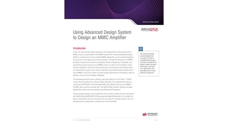 Designing an Advanced MMIC Amplifier