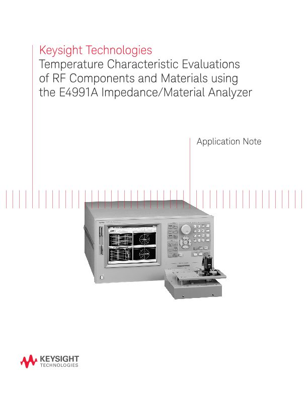 Temperature Characteristic Evaluations of RF Components and Materials using the E4991A Impedance/Material Analyzer –