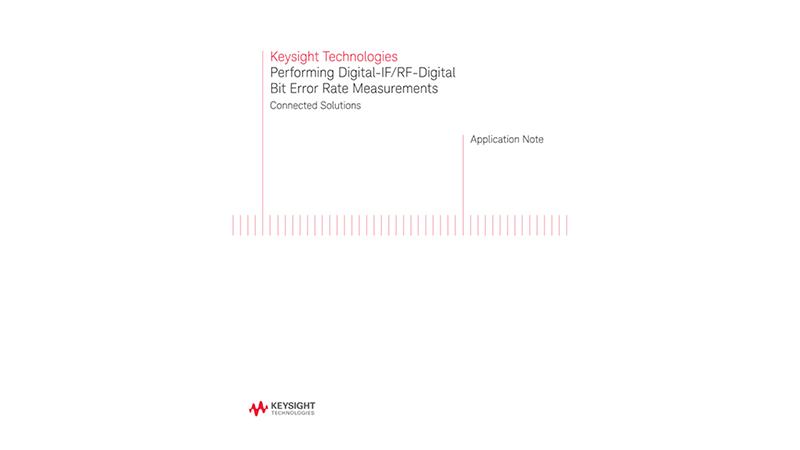 Performing Digital Bit Error Rate Measurements