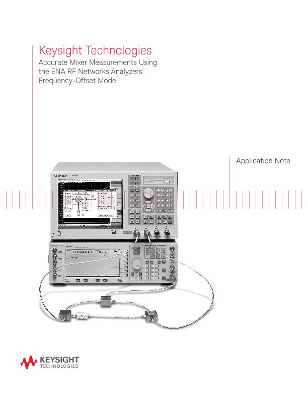 Using Frequency Offset for Accurate Mixer Measurements