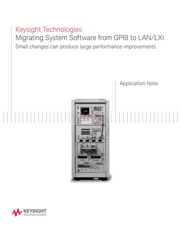 System Software Migration from GPIB to LAN / LXI