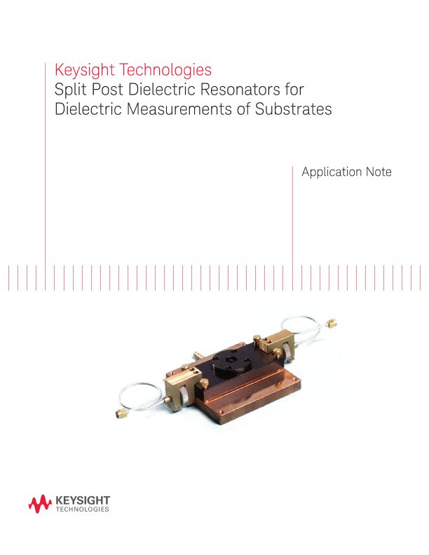 Split Post Dielectric Resonators for Dielectric Measurements