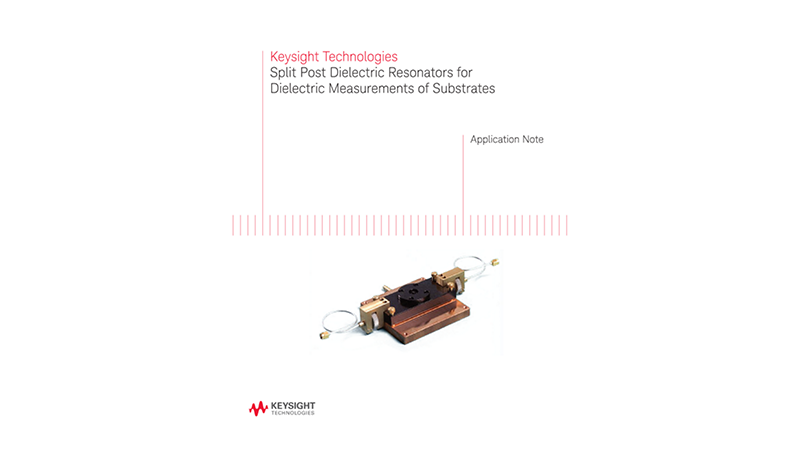 Split Post Dielectric Resonators for Dielectric Measurements
