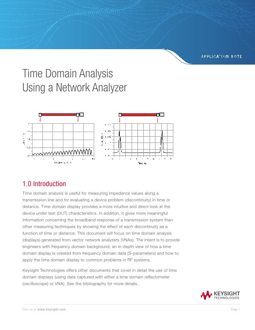 Time Domain Analysis Using a Network Analyzer