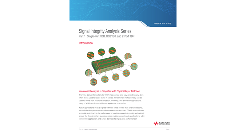 Signal Integrity Analysis Series Part 1: Single-Port TDR