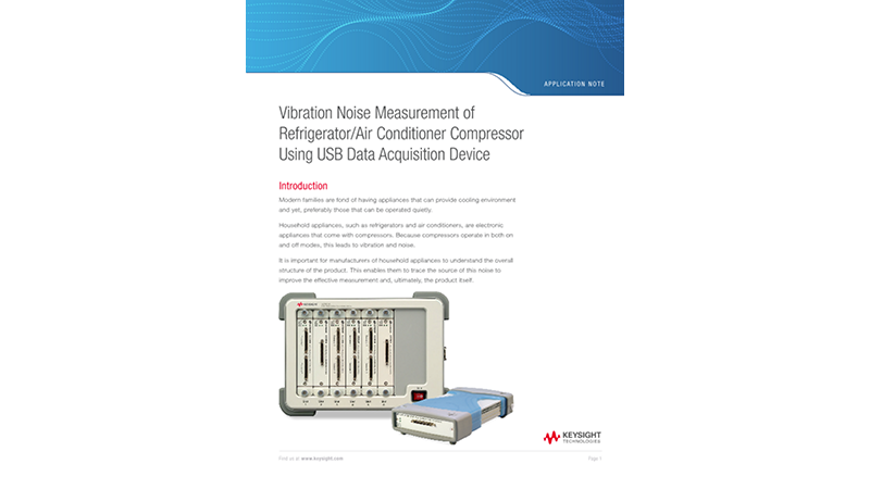Vibration Noise Measurement of Refrigerator/Air Conditioner Compressor Using USB Data Acquisition Device
