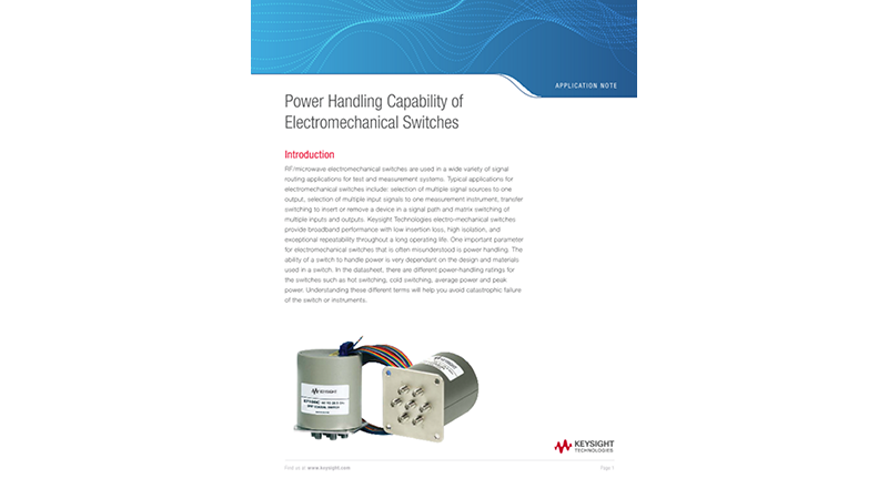 Power Handling Capability of Electromechanical Switches