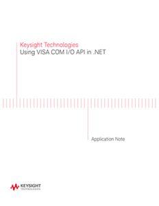 Using VISA COM I/O API in .NET