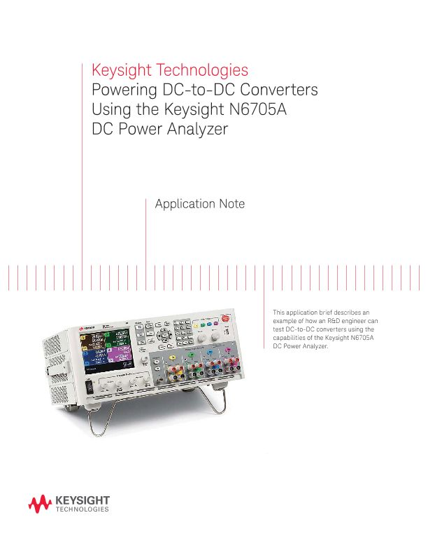 Powering DC-DC Converters with N6705A DC Power Analyzer