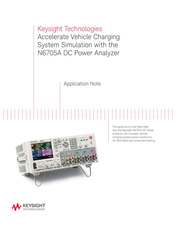 Accelerate Vehicle Charging System Simulation with the N6705A DC Power Analyzer