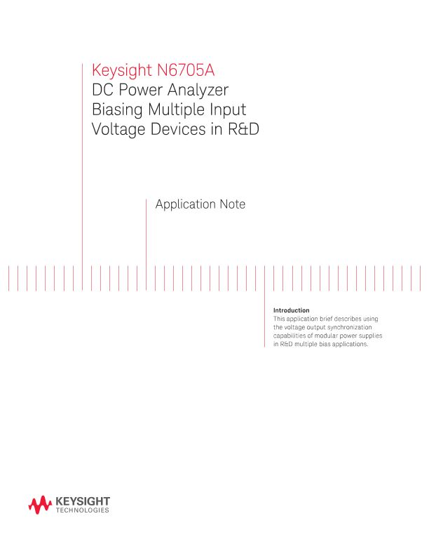 N6705A DC Power Analyzer Biasing Multiple Input Voltage Devices in R&D