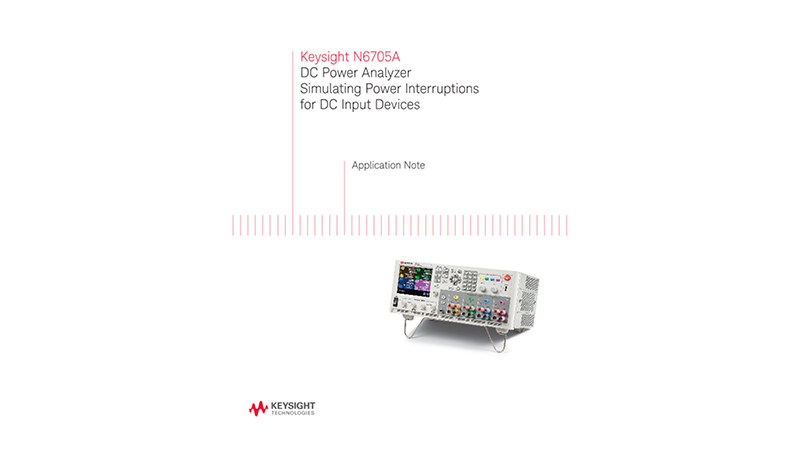 Simulating Power Interruptions for DC Input Devices