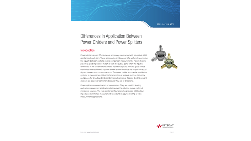 Differences in Application Between Power Dividers and Power Splitters