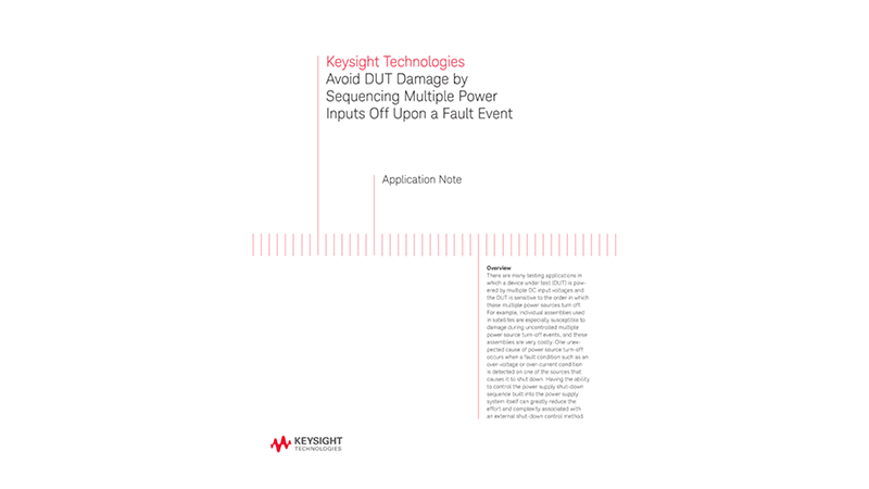 Avoid DUT Damage by Power Sequencing
