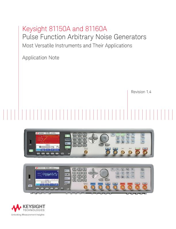 Pulse Function Arbitrary Noise Generator (81150A and 81160A)