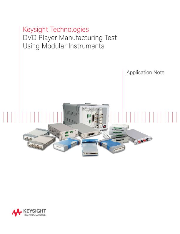 DVD Player Manufacturing Test Using Modular Instruments