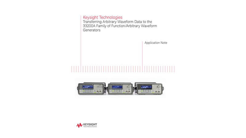 Transferring Arbitrary Waveform Data to Waveform Generators