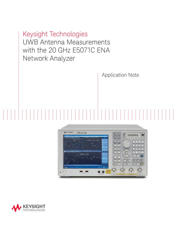 UWB Antenna Measurements with the 20 GHz ENA Network Analyzer
