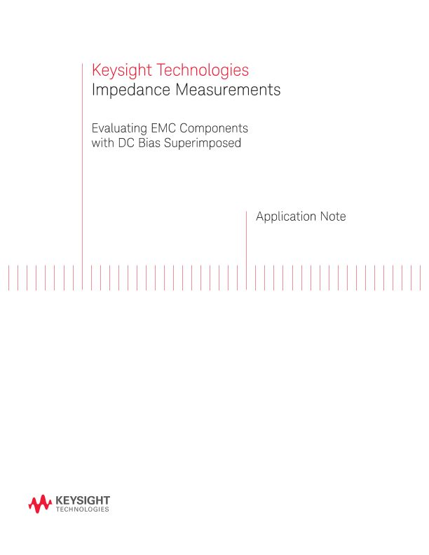 Impedance Measurements of EMC Components with DC Bias Current