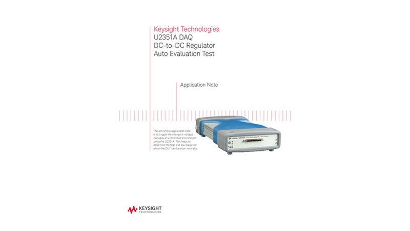 DAQ DC-to-DC Voltage Regulator Auto Evaluation Test