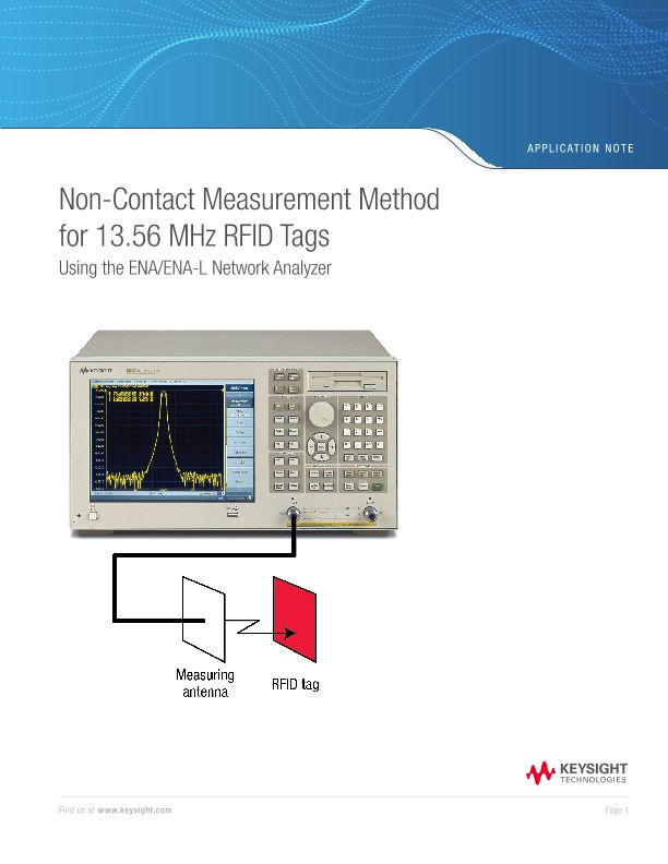 Non-Contact Measurement for 13.56 MHz RFIDs